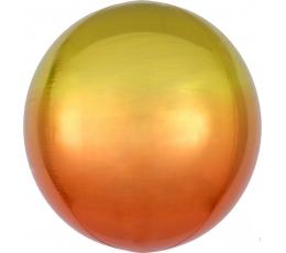 Фольгированный шарик орбз, желто-оранжевый омбре (38 см)