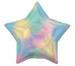 """Фольгированный шарик """"Перламутровая звезда"""", голографическая"""