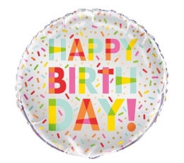 """Фольгированный шарик """"Сахарные крошки -Happy Birthday"""" (45 см)"""