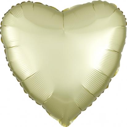 """Фольгированный шарик """"Желтое сердечко"""", матовое (43 см)"""