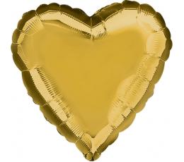 Фольгированный шарик -  золотое (43 см)