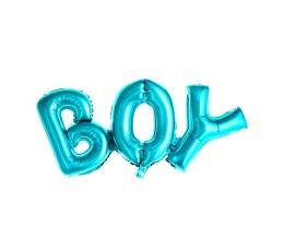 """Фольгированный шарик""""Boy"""", синий (67 x 29 см)"""