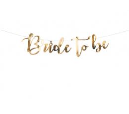 """Форменная гирлянда """"Bride to be"""", золотая (80 см)"""