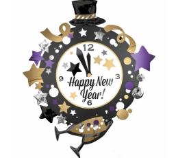 """Форменный шарик """"Новогодние часы"""" (76 х 88 см)"""