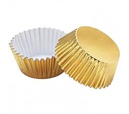 Формочки для кексиков, золотые (45 шт)