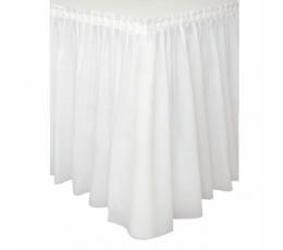 Фуршетная юбка, белая -пластиковая (73 х 426 см)