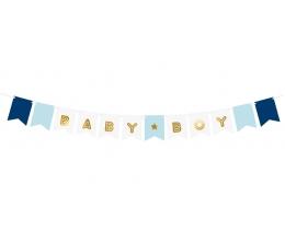 """Гирлянда """"Baby boy"""", синия -золотая (1,6 м)"""