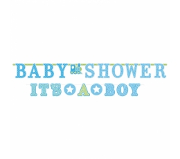 "Гирлянда ""Baby Shower/It's a boy"" синяя (2 шт)"