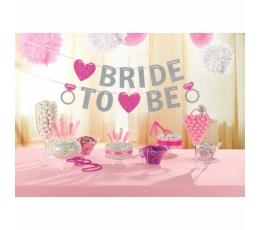 """Гирлянда """"Bride to be"""", розовая блестящая (3,65 м)"""