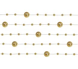 Гирлянда бусинками, золотая (1,3 м)