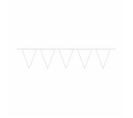 Гирлянда флажками, белая -пластиковая (10 м)