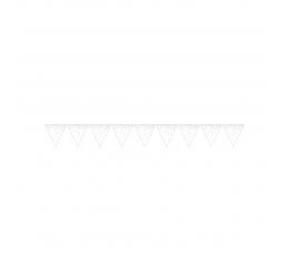 Гирлянда флажками, белая в цветной горошек (2,74 м)