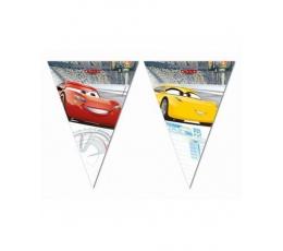 """Гирлянда флажками """"Cars 3"""" (9 флажков)"""