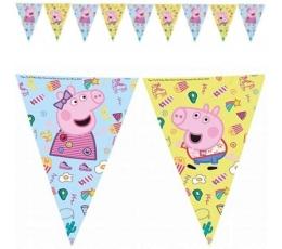 """Гирлянда флажками """"Peppa Pig"""" (9 флажков)"""