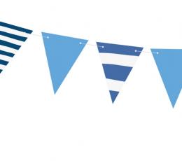 Гирлянда флажками, синяя в полоску (1,3 м) 1