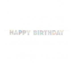"""Гирлянда """"Happy Birthday"""", перламутр (2,2м)"""