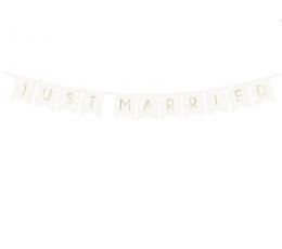"""Гирлянда """"Just Married"""", белая -золотая (1,55 м)"""