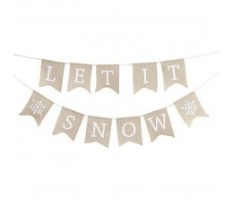 """Гирлянда  """"Let it snow"""""""