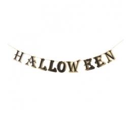 Гирлянда на Хеллоуин, золото-черный (13,5 см х 3 м)