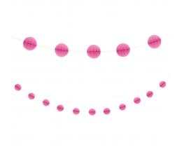 Гирлянда шариками, розовая (2,13 м)