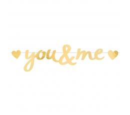 "Гирлянда ""You&Me"", золотая  (92x20 cm)"