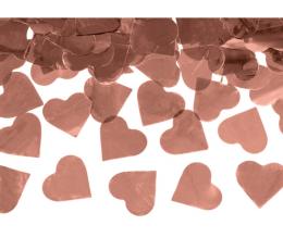 """Хлопушка с конфетти """"Сердечки"""", розовое золото  (60 см)"""