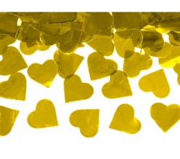 "Хлопушка с конфетти ""Золотые сердечки"" (60 см)"
