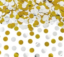 Хлопушка с конфетти, золото с серебром (60 см) 0