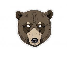 """Картонная маска """"Медведь"""""""
