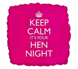 "Фольгированный шарик  ""Keep calm it's your Hen Night"" (46 cm)"