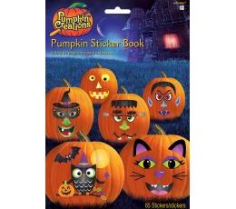 "Книжка - наклеек ""Тыквы на Хэллоуин"" (65 наклеек)"