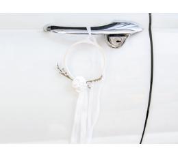 Комплект декораций для машины с обручами, белый