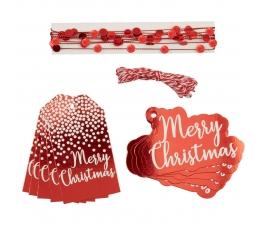 """Комплект для упаковки подарков """"Merry Christmas"""""""