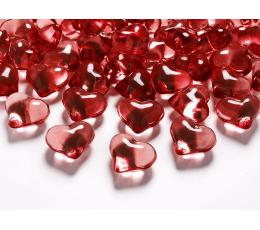 """Конфетти кристаллы """"Красные сердечки"""" (30 шт/ 21 мм)"""