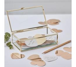 Коробочка для пожеланий, стеклянная с сердечками