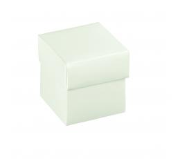 Коробочка с крышкой, белая (5 х 5 х 5 см)