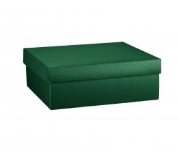 Коробочка, с крышкой, темно зеленая (30 х 30 х 11 см)