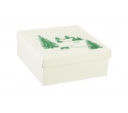 "Коробочка с крышкой ""Зима"", низкая (30х30х12 cm)"