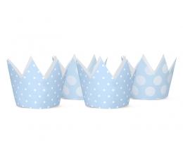 Короны, синие  (4 шт)