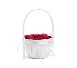 Корзинка для лепестков роз, белая атласная