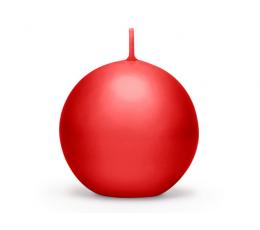 Красная свеча, матовая (8 см)