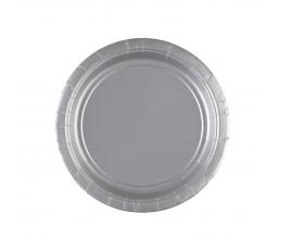 Тарелочки, серебро (8 шт./17 cm)