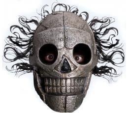 Маска «Скелет с волосами» (1 шт.)