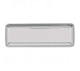 Мини пластмассовые подставки, серебряные (10 шт/ 6,5 х 19 см)