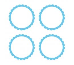 Наклейки, голубые (20 шт)