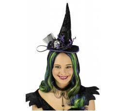 """Обруч """"Ведьминская шляпа с блестящим черепом"""""""