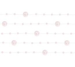 Гирлянда бусинками, розовая (1,3 м)