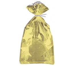Пластиковые мешочки, золотого цвета (10 шт)
