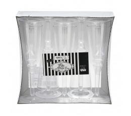 Пластмассовые стаканчики для шампанского, прозрачные (10 шт)