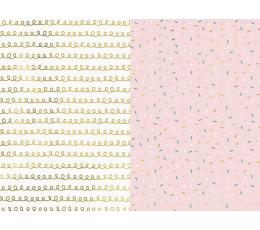 Подарочная бумага, розовая с блеском (2 шт / 70 х 200 см)